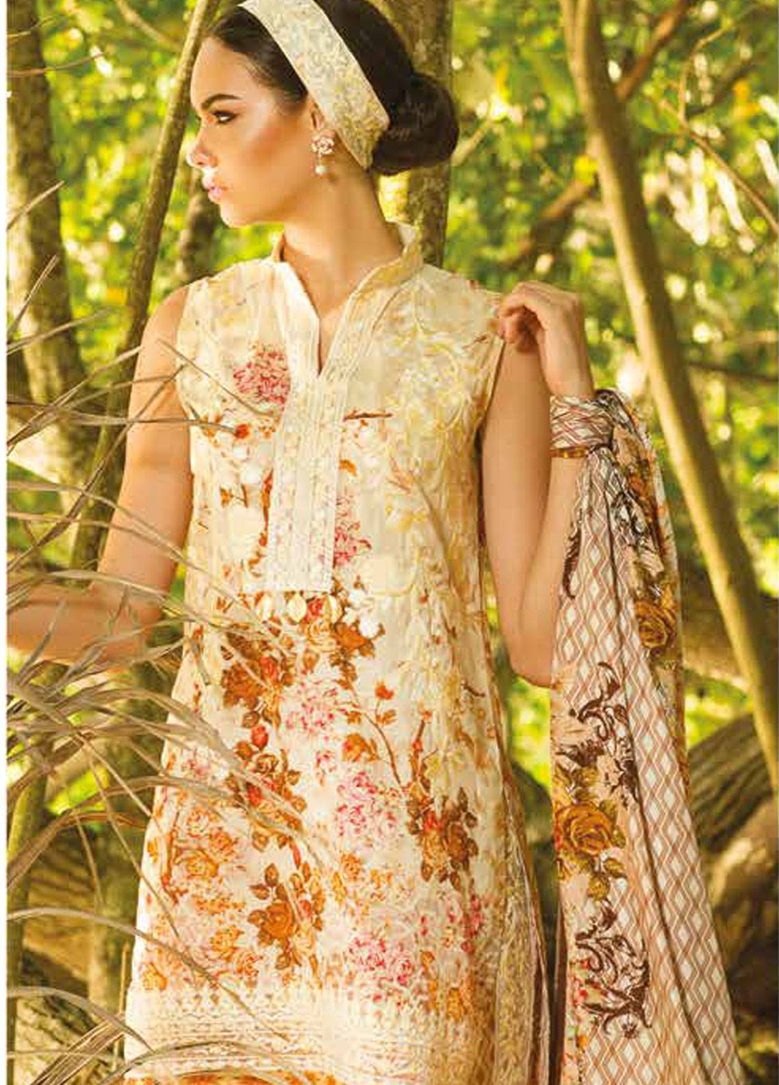 Maheen Taseer Embroidered Lawn Unstitched 3 Piece Suit MHT18L 8B - Spring / Summer Collection