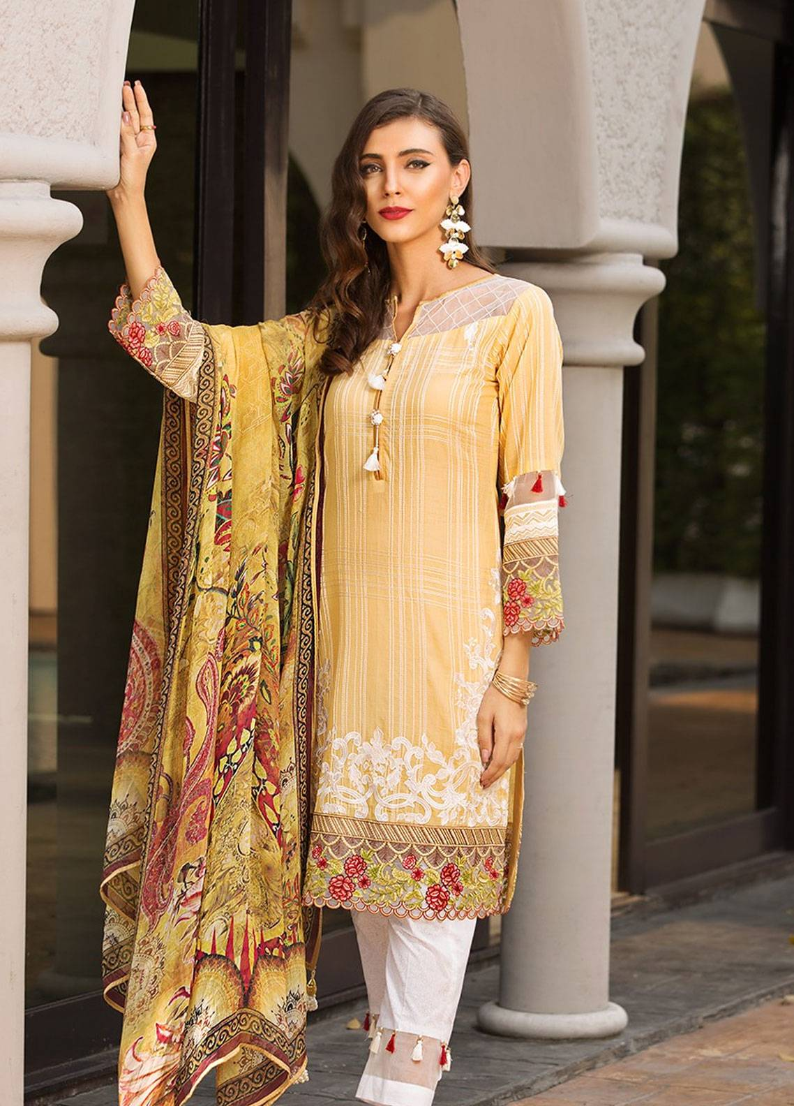 Mohagni Embroidered Lawn Unstitched 3 Piece Suit MOG19F 02 - Festive Collection
