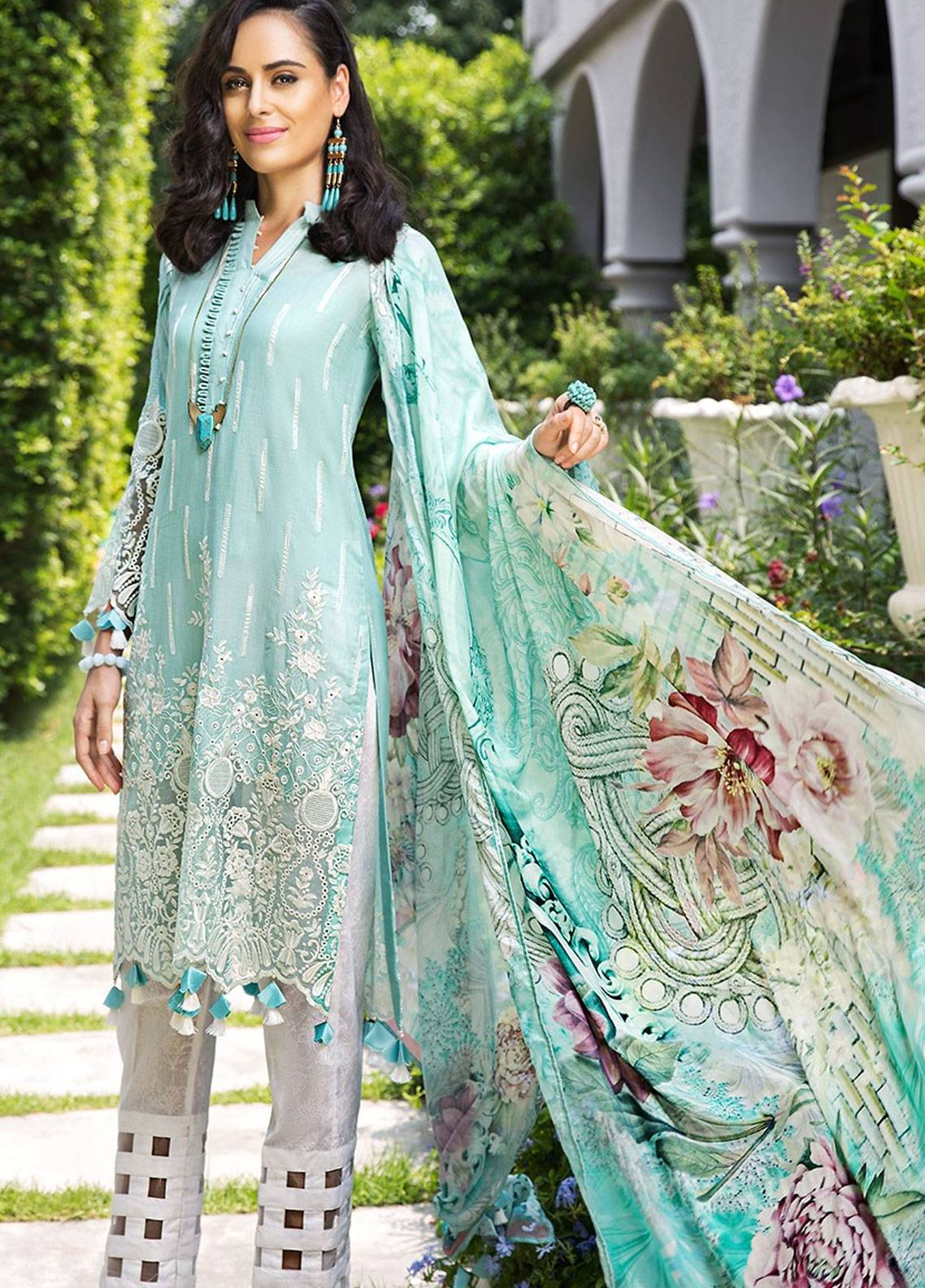 Mohagni Embroidered Lawn Unstitched 3 Piece Suit MOG19F 06 - Festive Collection