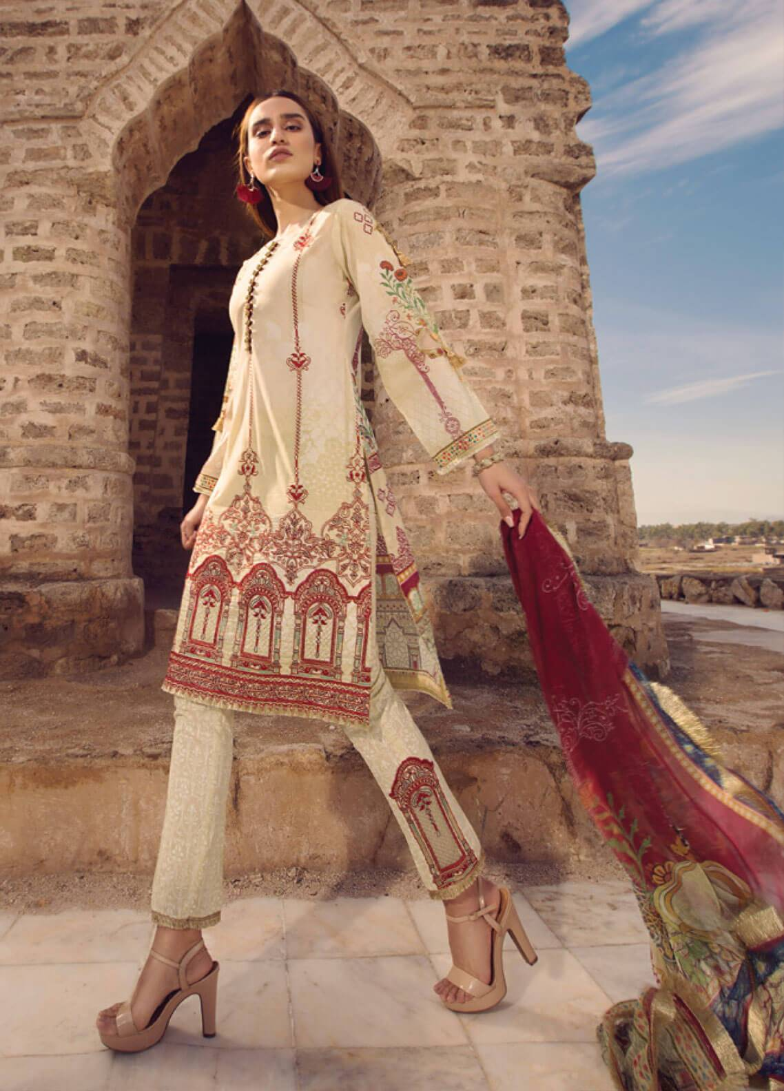 Mohagni Embroidered Lawn Unstitched 3 Piece Suit MOG19L 03 - Spring / Summer Collection