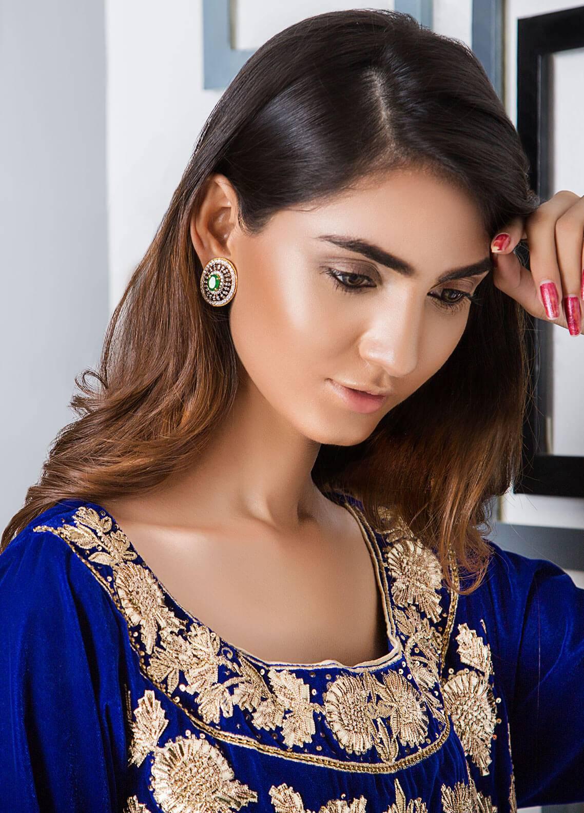 Momal Khan Embroidered  Stitched Bridal Suit MK-04B Auspicous