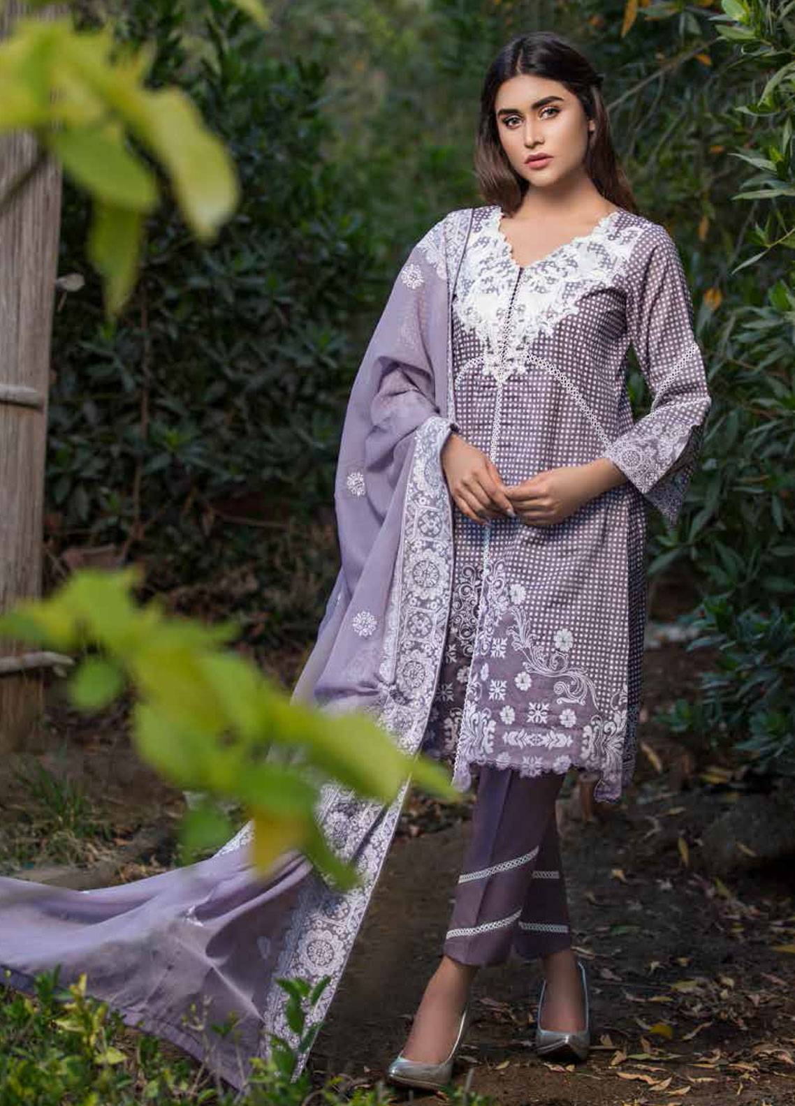 Monsoon Festivana by Al Zohaib Embroidered Lawn Unstitched 3 Piece Suit MNF19-L2 6A - Spring / Summer Collection