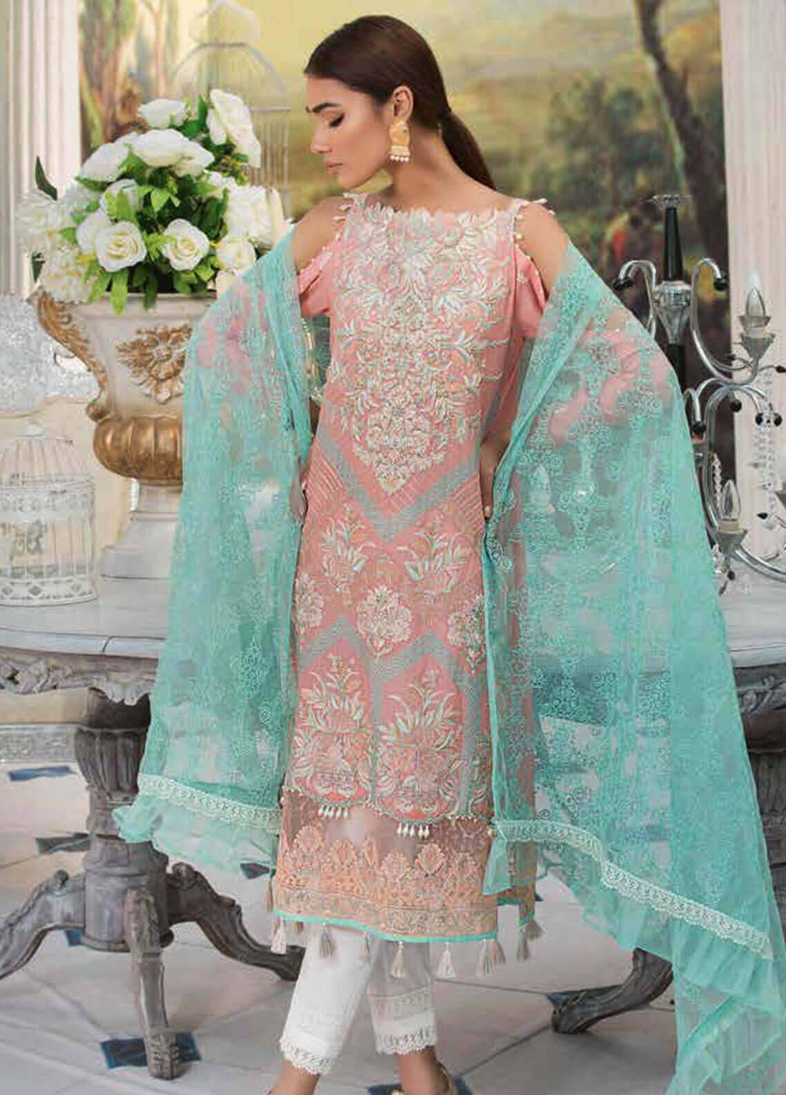 Motifz Embroidered Lawn Unstitched 3 Piece Suit MT19L 2209 CONTOURED FLOWER - Spring / Summer Collection