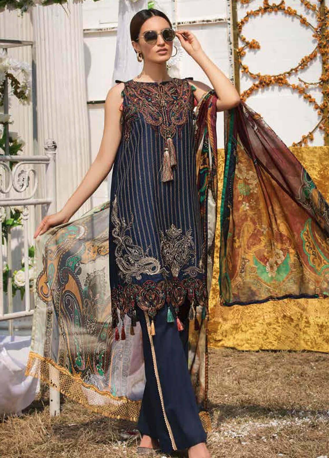 Motifz Embroidered Lawn Unstitched 3 Piece Suit MT19L 2213 KASHMIR KALLI - Spring / Summer Collection