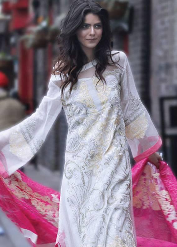 Maria Salman Embroidered Khaadi Net Unstitched 3 Piece Suit MS18K 101