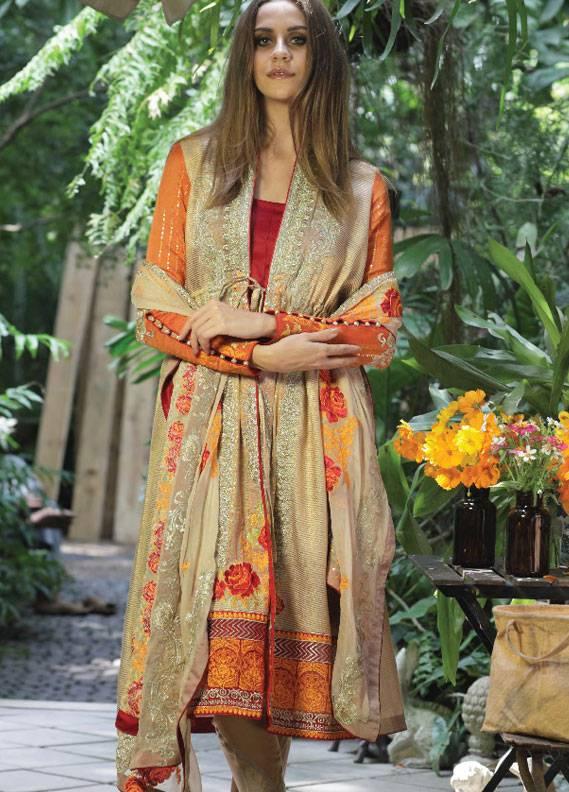 Maria Salman Embroidered Khaadi Net Unstitched 3 Piece Suit MS18K 102