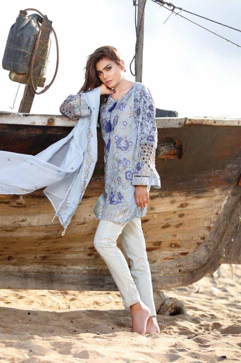 Motifz Embroidered Lawn Unstitched 3 Piece Suit MT17L 1578B