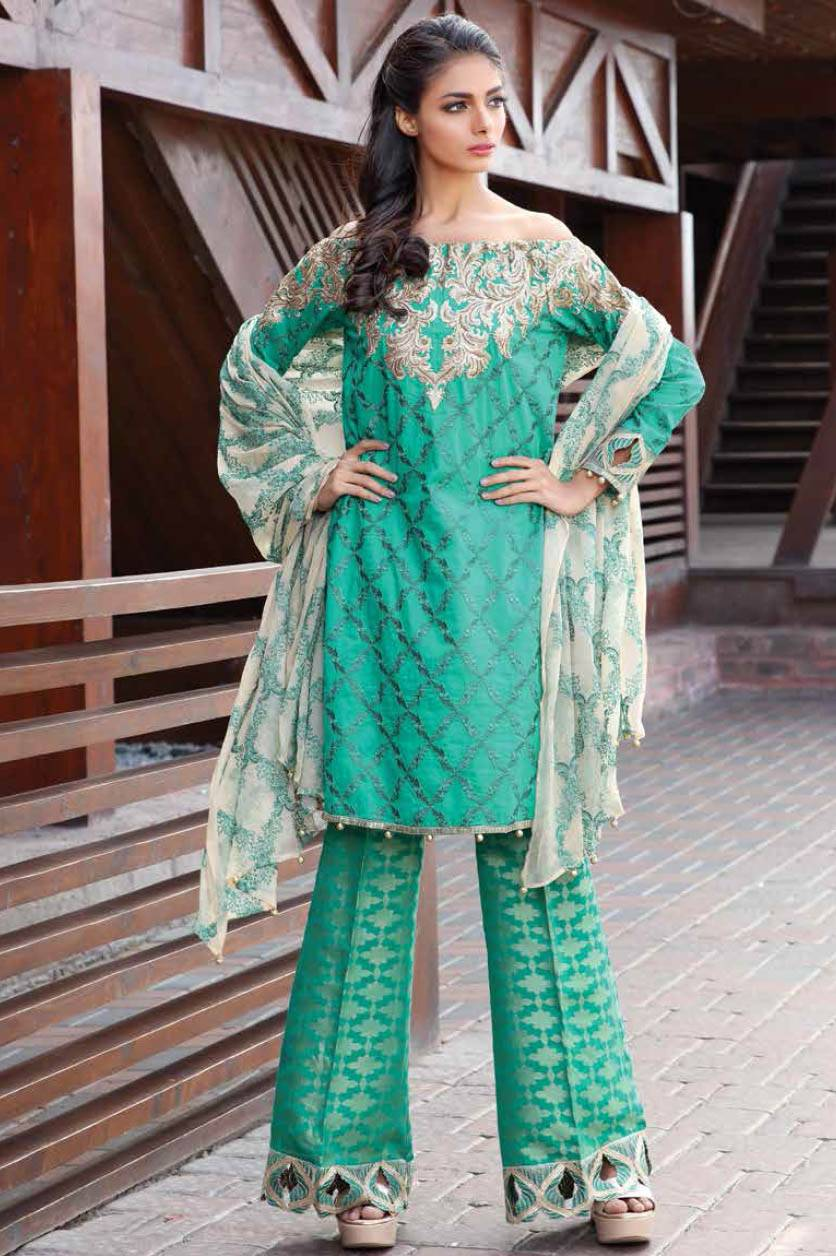 Motifz Embroidered Lawn Unstitched 3 Piece Suit MT17L 1580A
