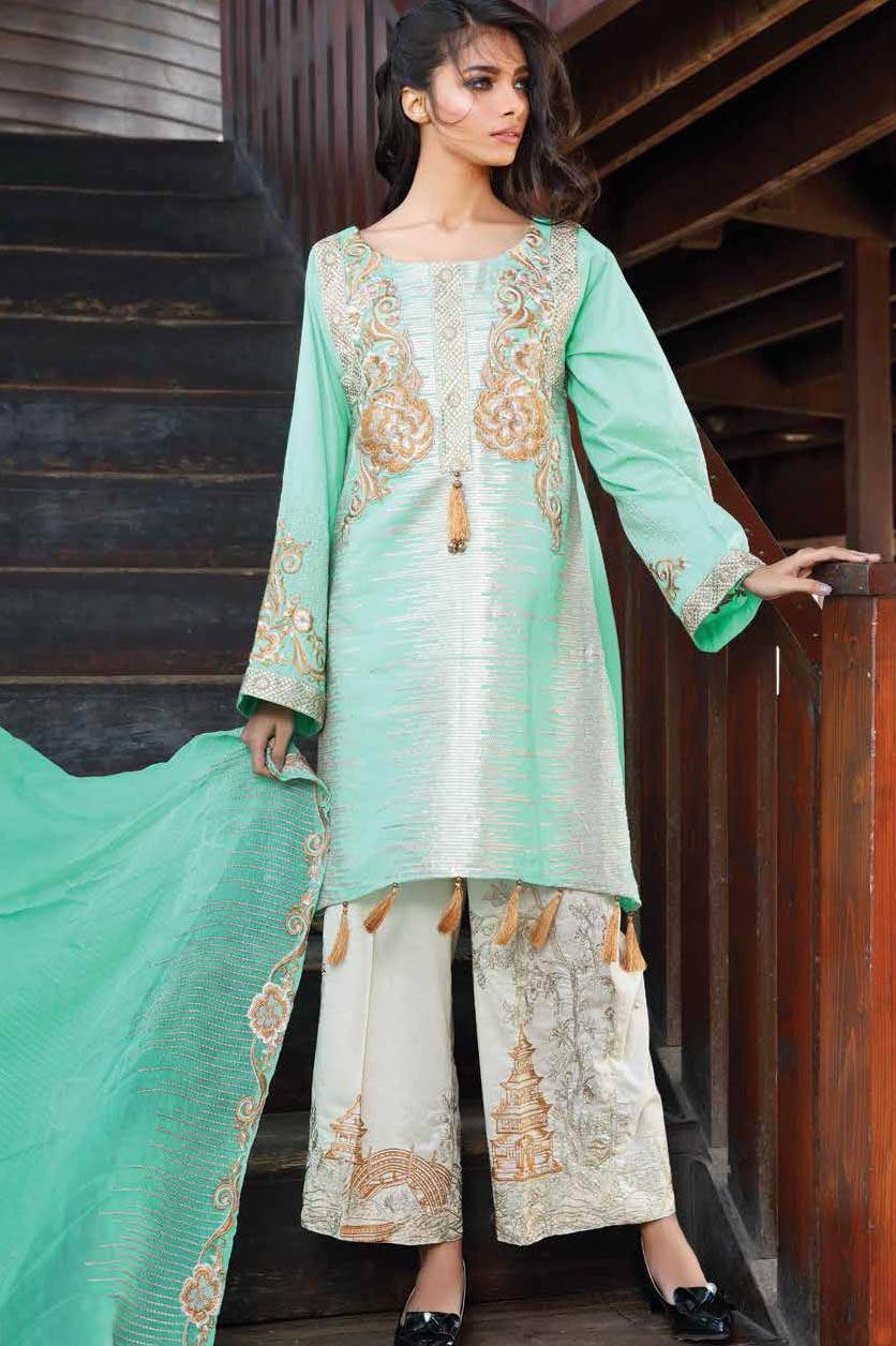 Motifz Embroidered Lawn Unstitched 3 Piece Suit MT17L 1581B