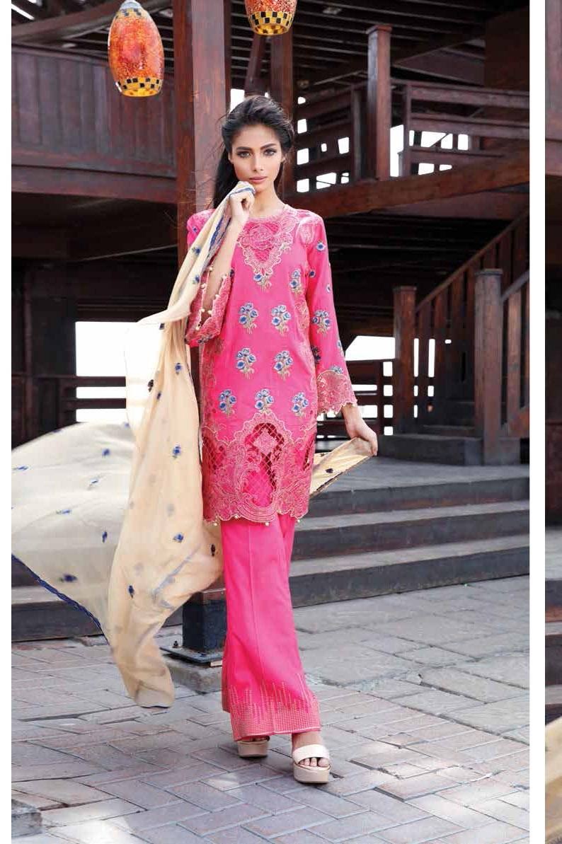 Motifz Embroidered Lawn Unstitched 3 Piece Suit MT17L 1582B