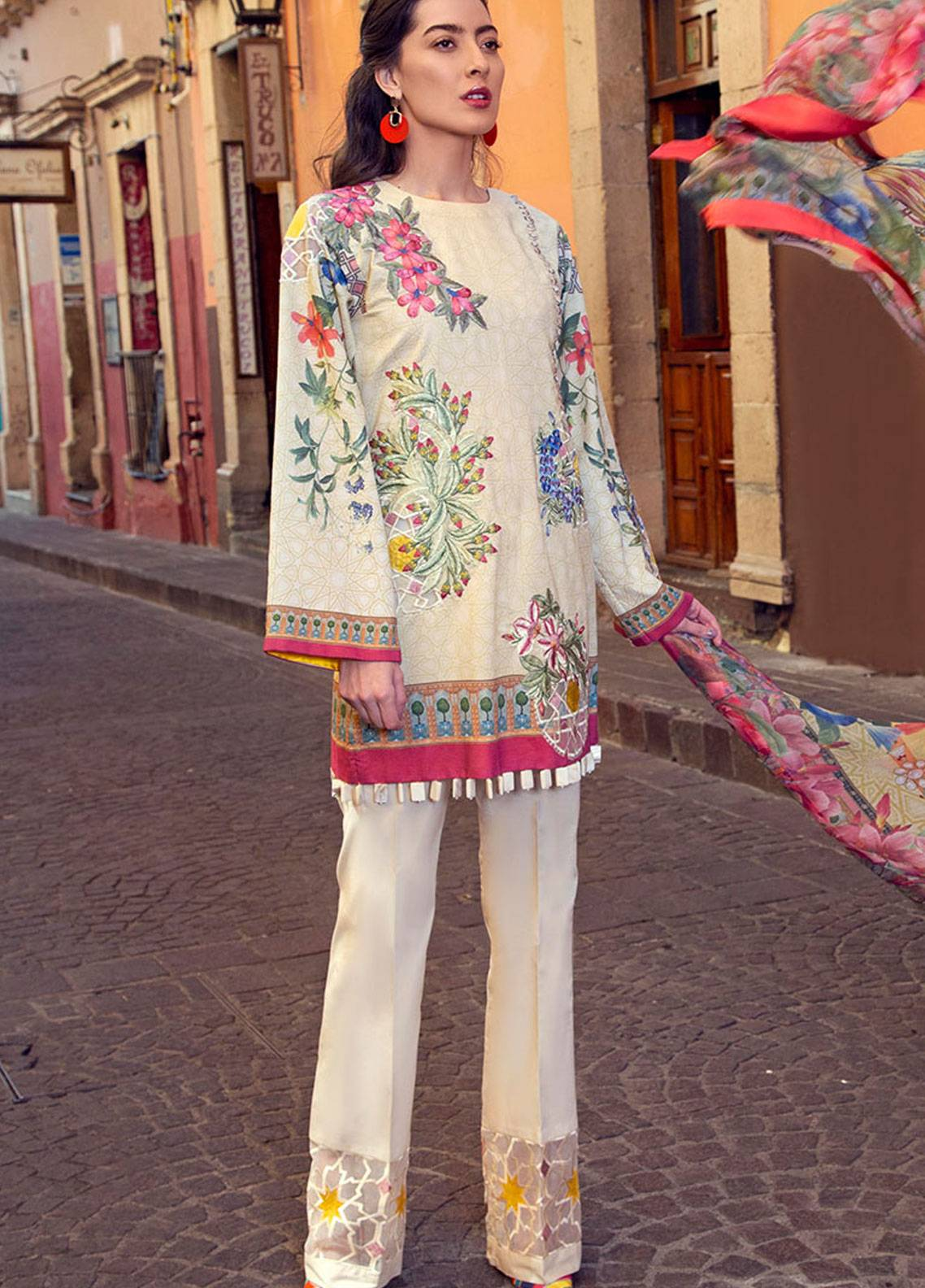 Mushq Embroidered Lawn Unstitched 3 Piece Suit MSQ19L 09 CAMELLIA - Spring / Summer Collection