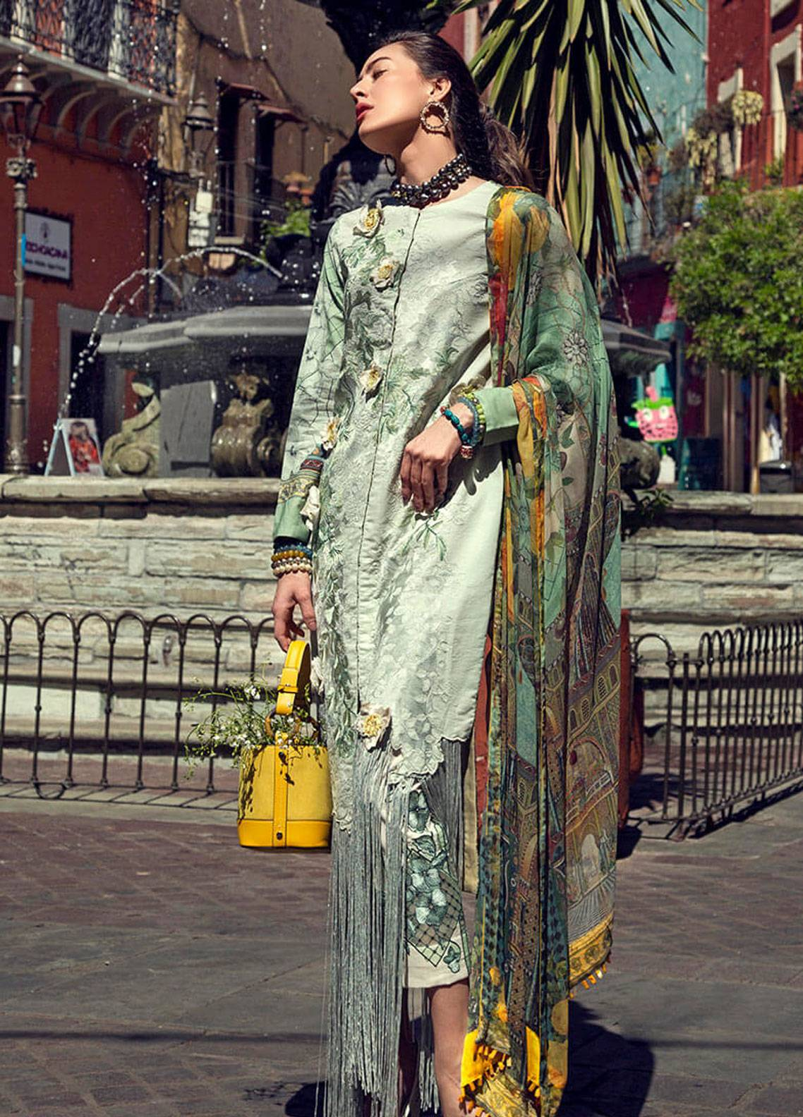 Mushq Embroidered Lawn Unstitched 3 Piece Suit MSQ19L 13 VIOLA - Spring / Summer Collection