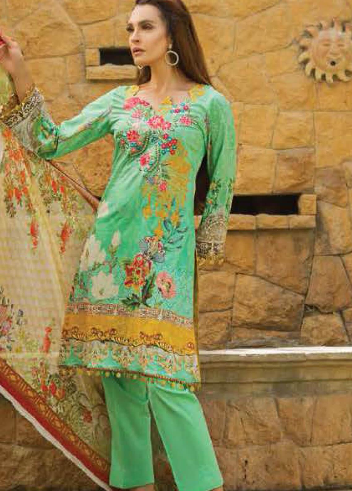 Nadia Hussain Embroidered Lawn Unstitched 3 Piece Suit NH19L 03 - Spring / Summer Collection