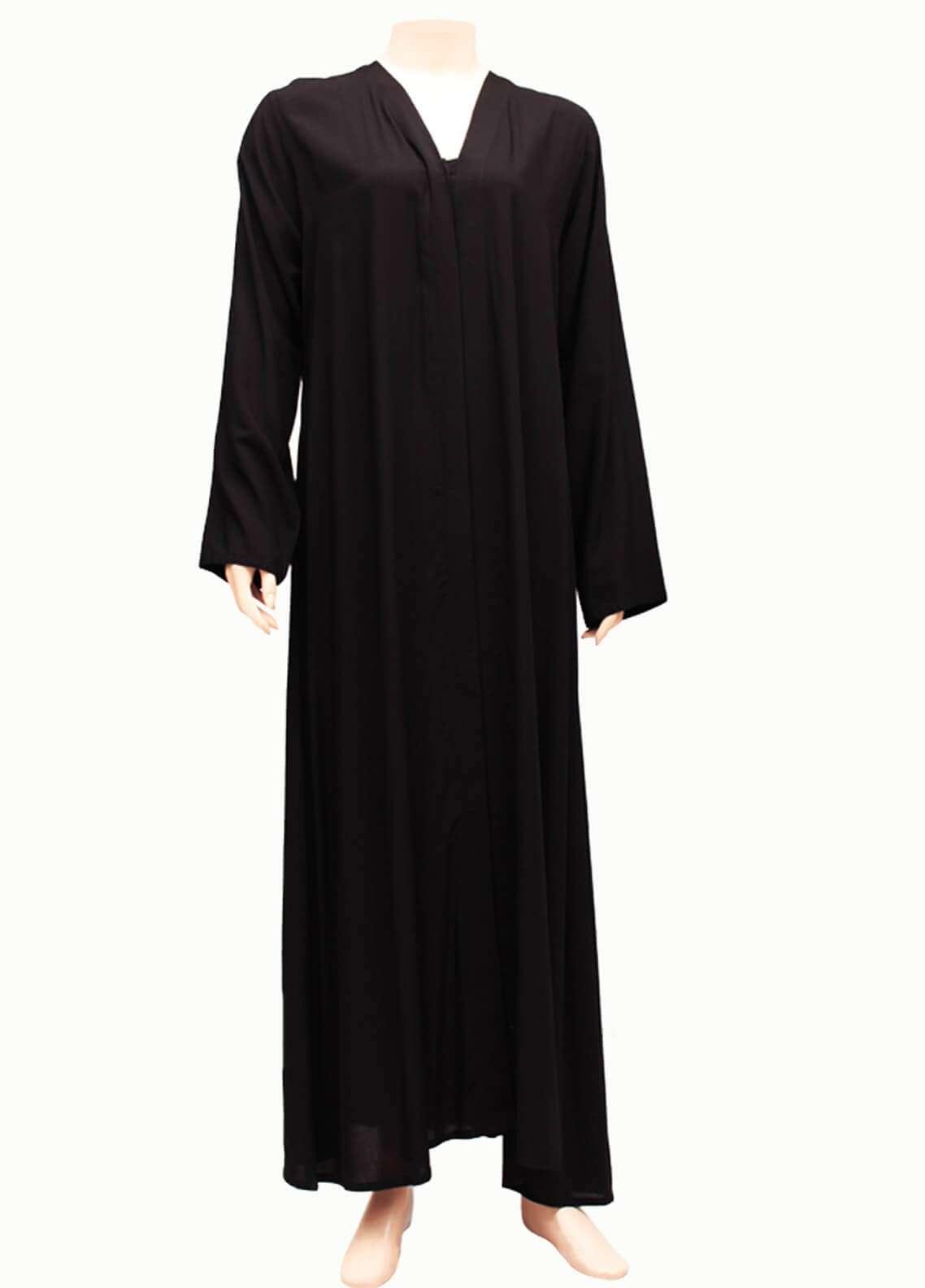 Hijab ul Hareem  Abayas New Stylish Designered Abaya 0116-P Black