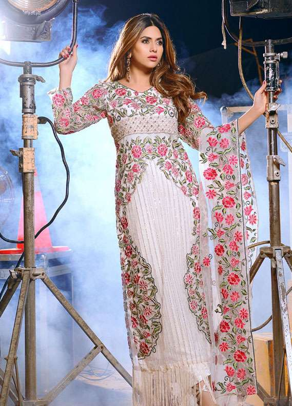 Noorma Kamal Embroidered Chiffon Unstitched 3 Piece Suit NK18C 05 - Formal Collection