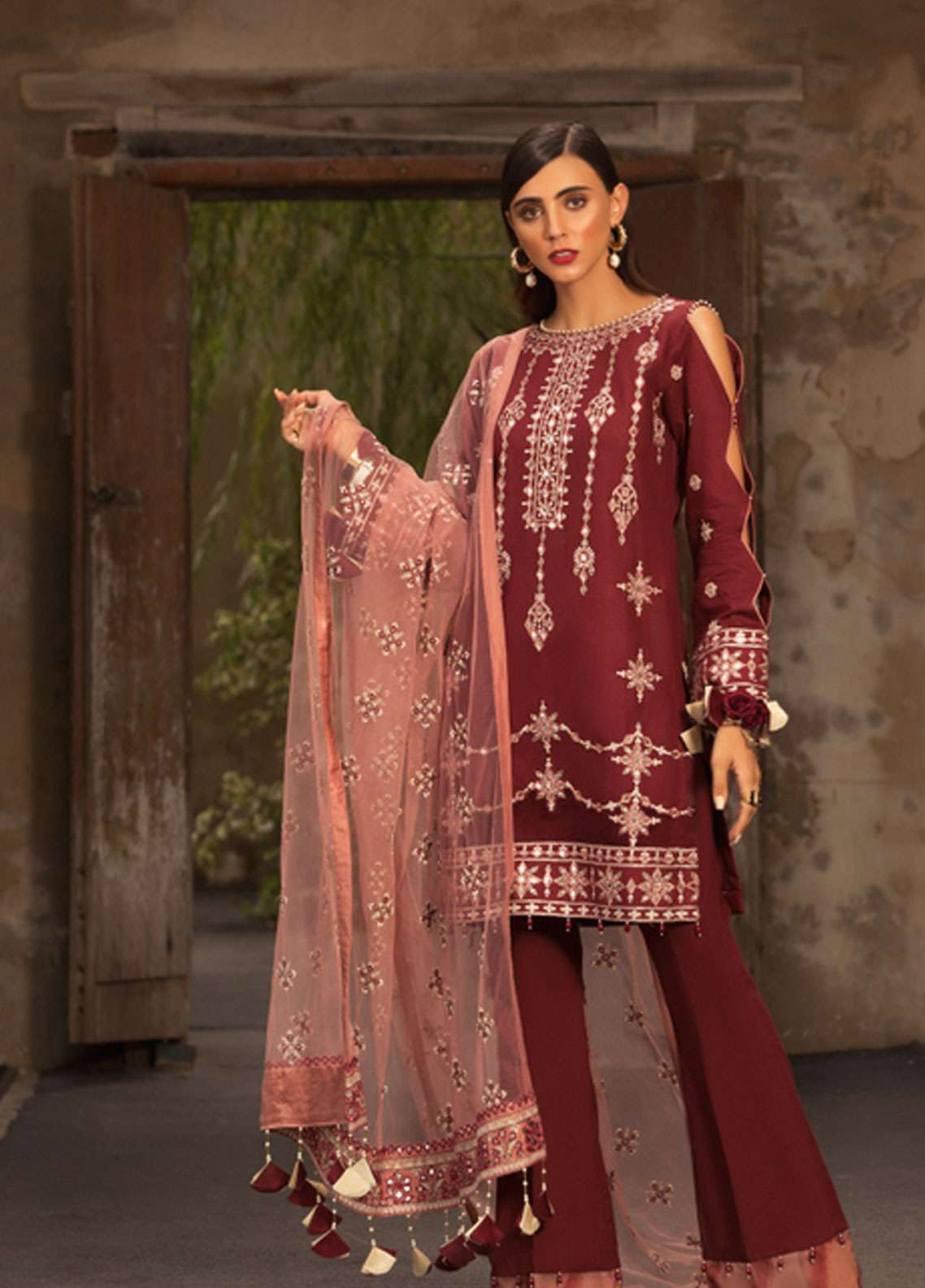 Noor by Saadia Asad Embroidered Lawn Unstitched 3 Piece Suit NSA19L 9A - Spring / Summer Collection