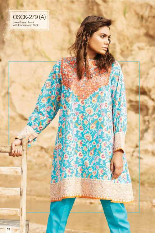 Oaks Embroidered Lawn Unstitched Kurtis OK17L  279A