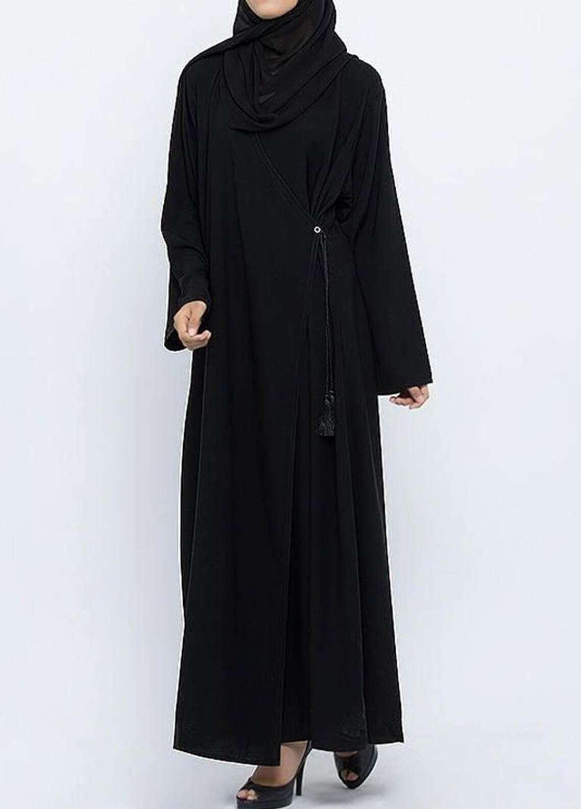 Hijab ul Hareem  Abayas Omani Style Plain Abaya 0115-P