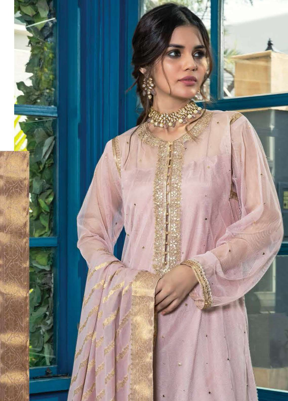 Orient Textile Embroidered Zari Net Unstitched 3 Piece Suit OT19F 276 - Premium Formal Collection