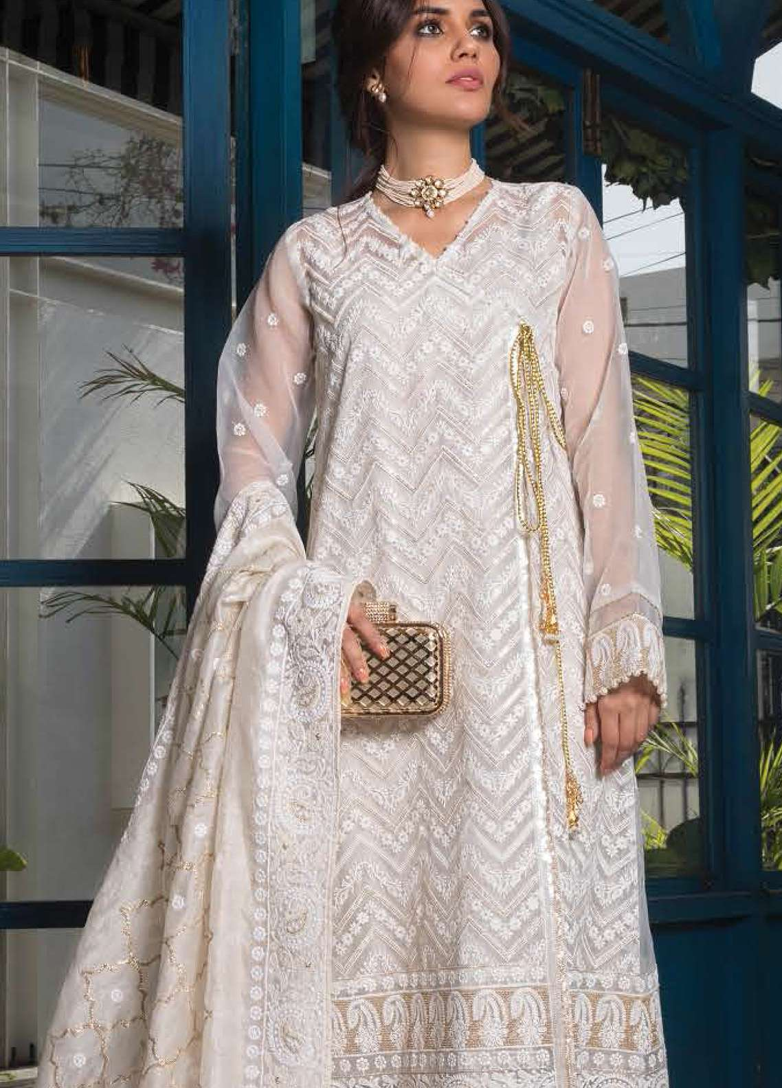 Orient Textile Embroidered Organza Unstitched 3 Piece Suit OT19F 277 - Premium Formal Collection