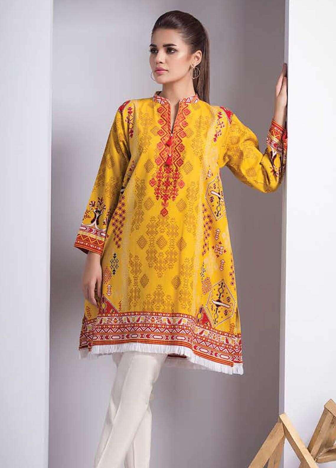 Orient Textile Embroidered Cotton Cotel Unstitched Kurties OT18W 208A Izmir - Winter Collection