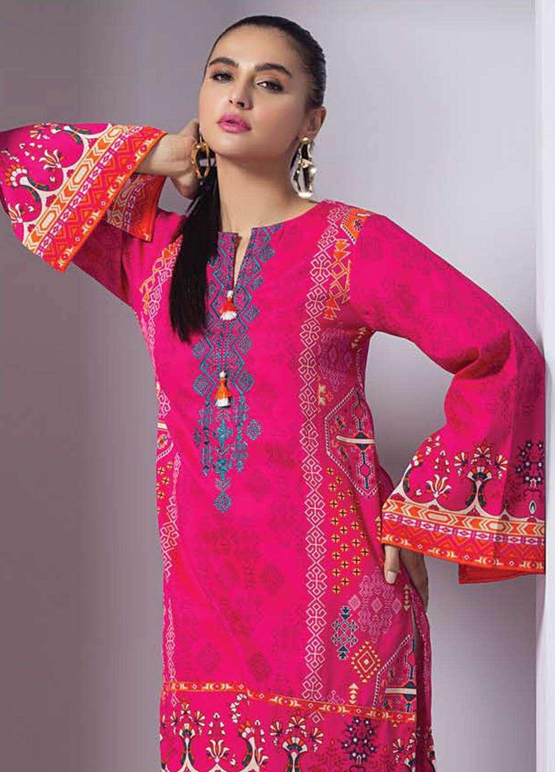 Orient Textile Embroidered Cotton Cotel Unstitched Kurties OT18W 208B Izmir - Winter Collection