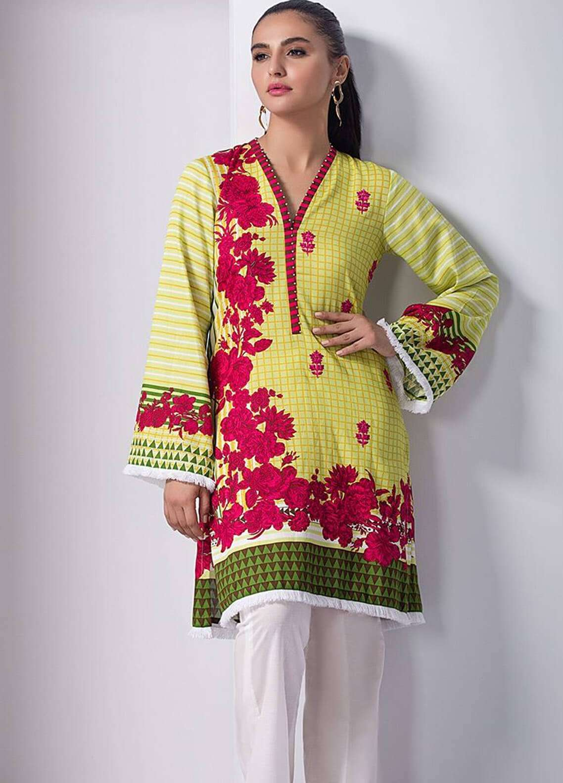 Orient Textile Embroidered Cotton Cotel Unstitched Kurties OT18W 217B Interlock - Winter Collection