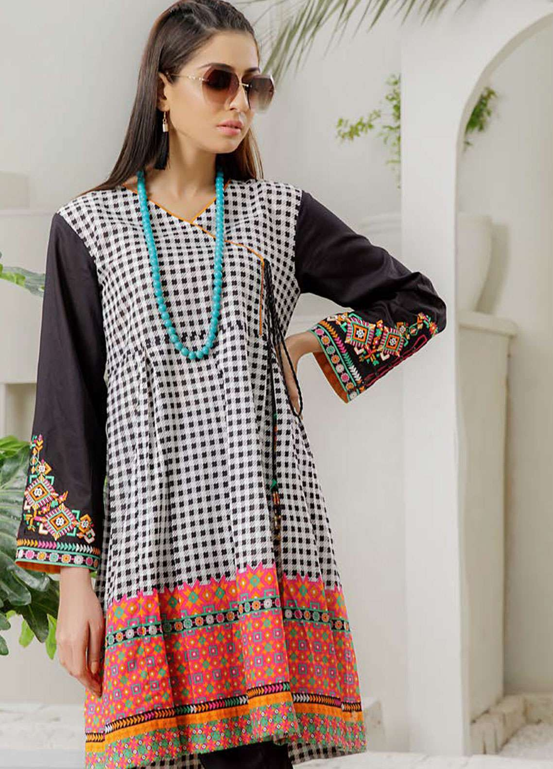 Orient Textile Embroidered Lawn Unstitched Kurties OT19-L2 115 A - Spring / Summer Collection