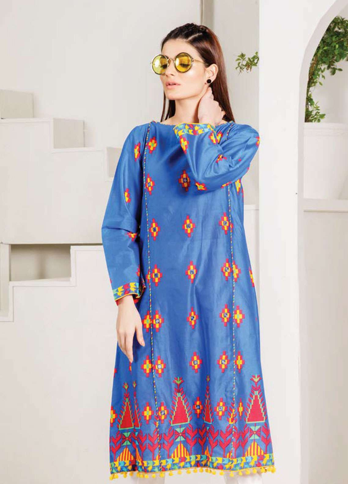 Orient Textile Embroidered Lawn Unstitched Kurties OT19-L2 116 B - Spring / Summer Collection