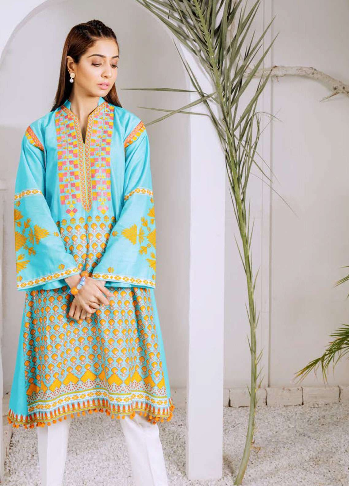 Orient Textile Embroidered Lawn Unstitched Kurties OT19-L2 123 A - Spring / Summer Collection