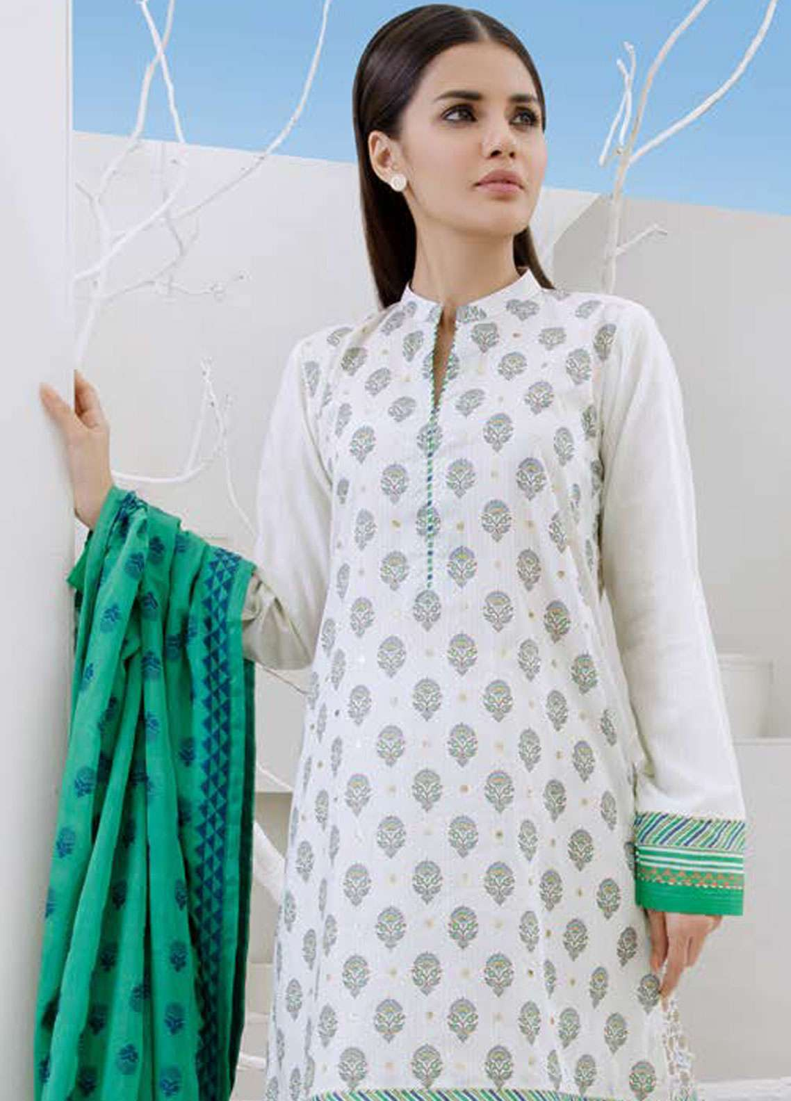 Orient Textile Embroidered Lawn Unstitched 3 Piece Suit OT19-L2 127 B - Spring / Summer Collection