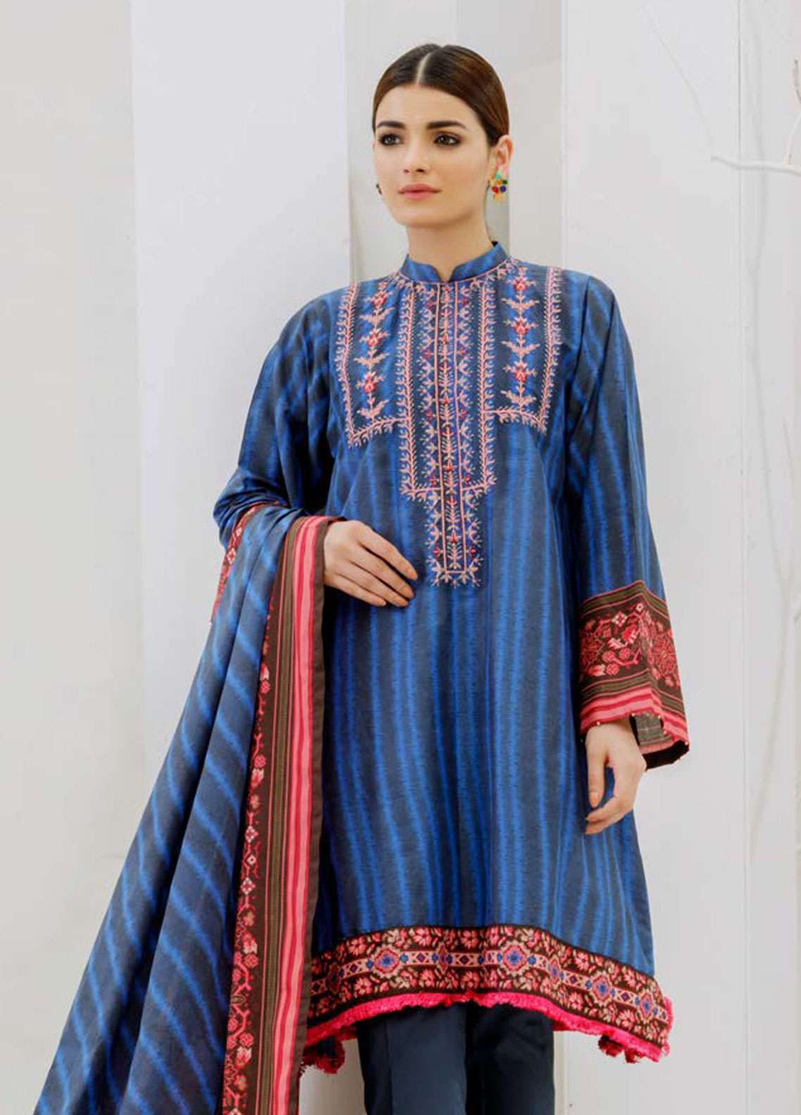 Orient Textile Embroidered Lawn Unstitched 3 Piece Suit OT19-L2 128 A - Spring / Summer Collection