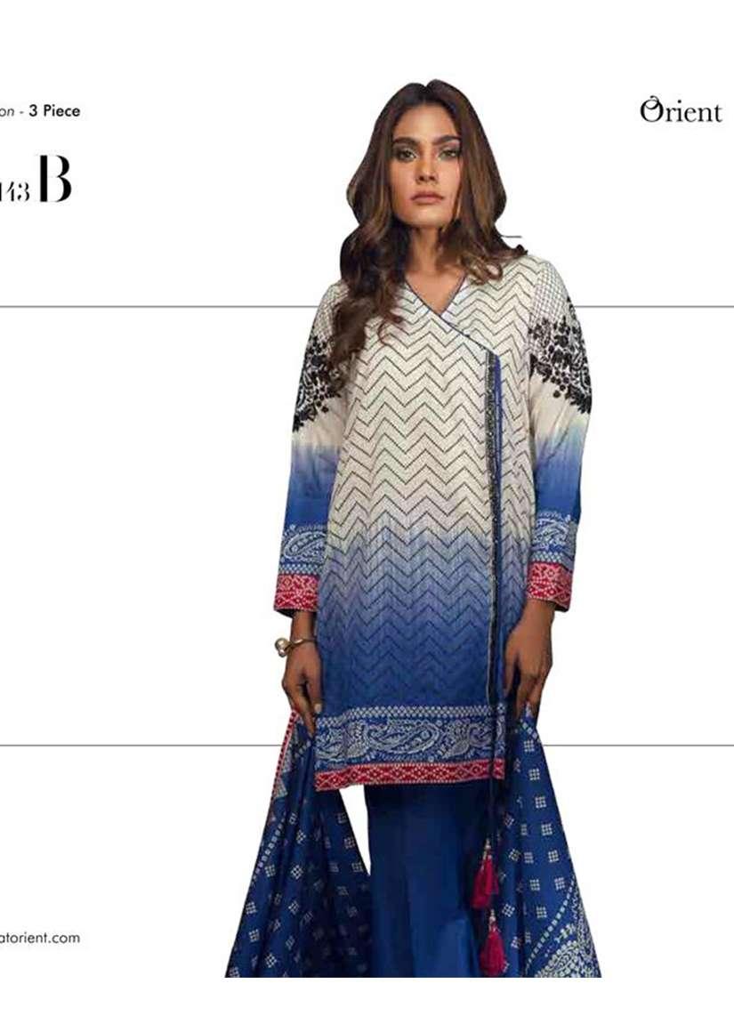 Orient Textile Embroidered Karandi Unstitched 3 Piece Suit OT17W 143B