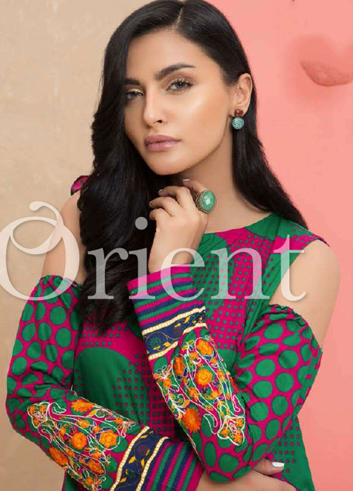 Orient Textile Latest Collection For Fall Winter 16: Orient Textile Embroidered Lawn Unstitched Kurties OT18-L2
