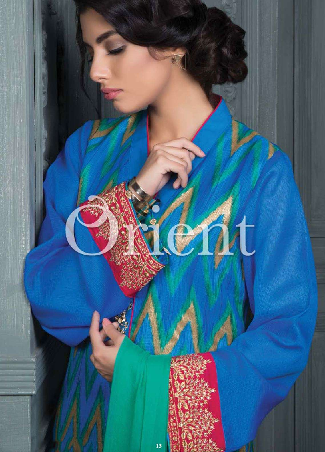 Orient Textile Embroidered Cotta Fabric Unstitched 3 Piece Suit OT18E 172A - Formal Collection