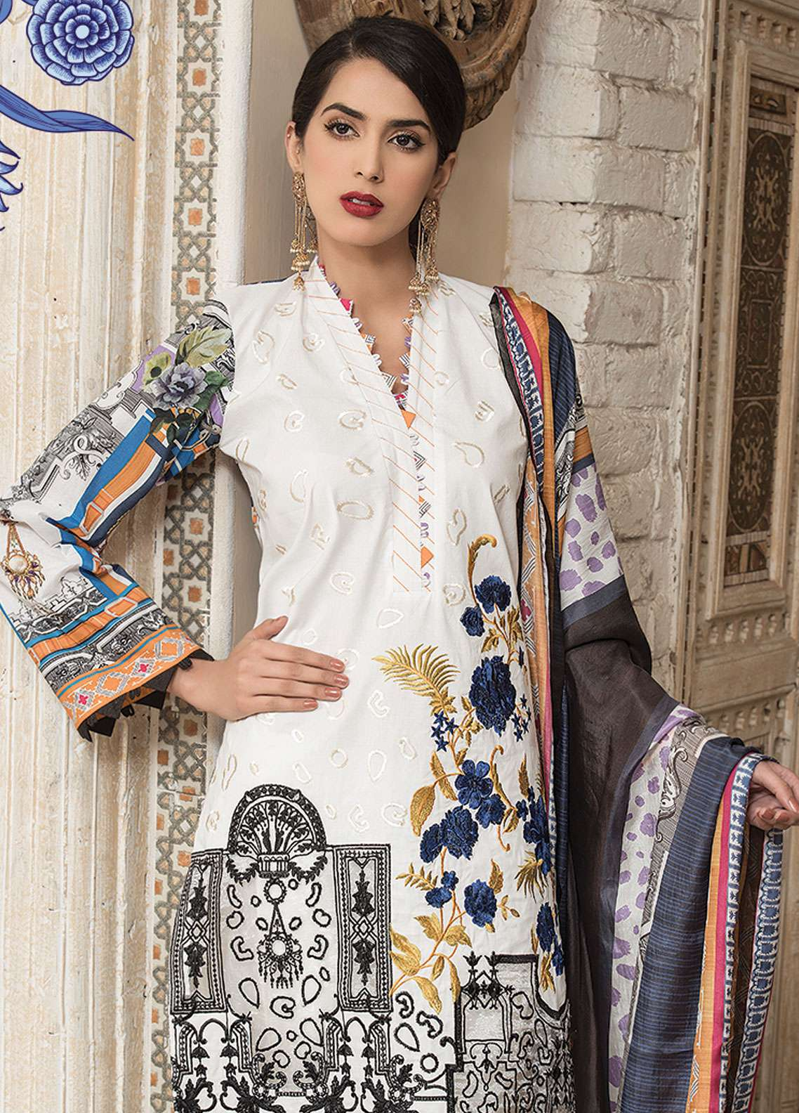 Panache Embroidered Lawn Unstitched 3 Piece Suit PND19L 2 - Spring / Summer Collection