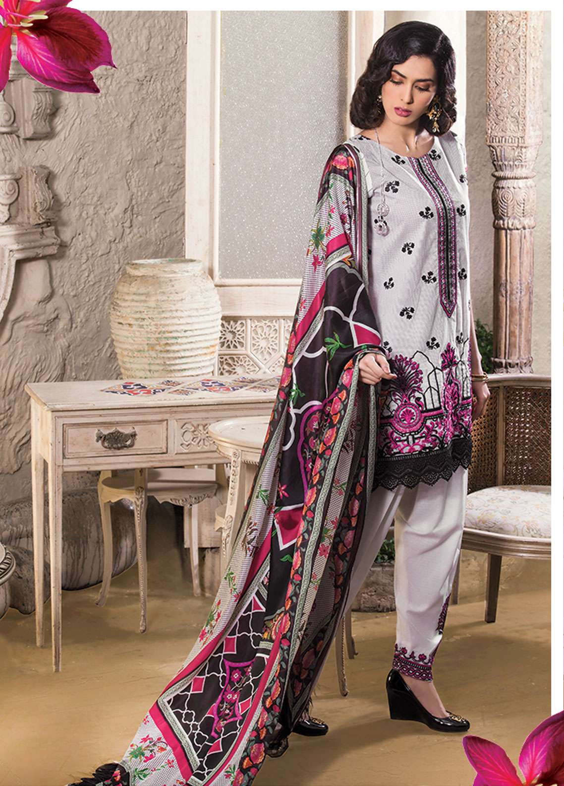 Panache Embroidered Lawn Unstitched 3 Piece Suit PND19L 3 - Spring / Summer Collection