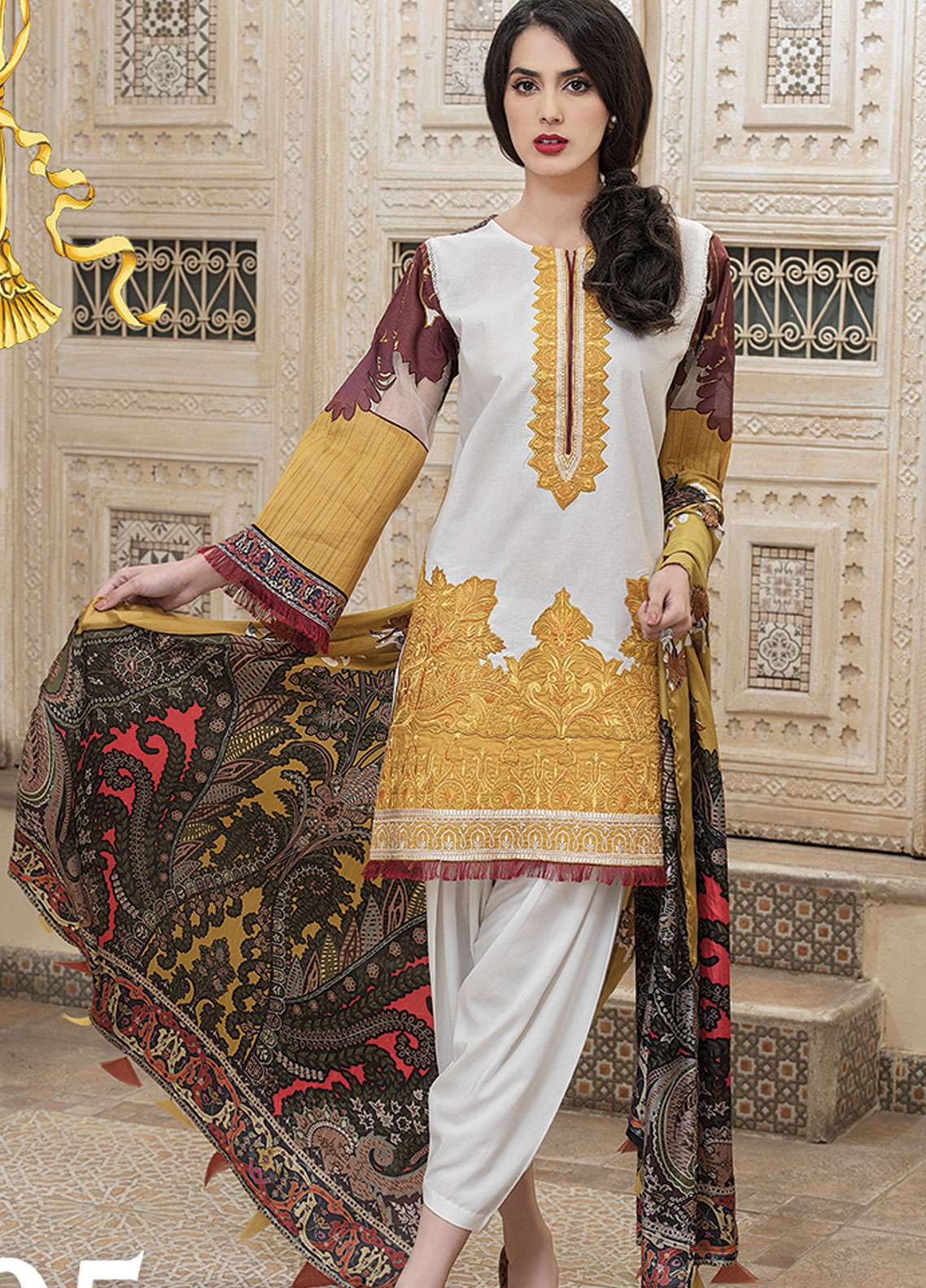 Panache Embroidered Lawn Unstitched 3 Piece Suit PND19L 5 - Spring / Summer Collection