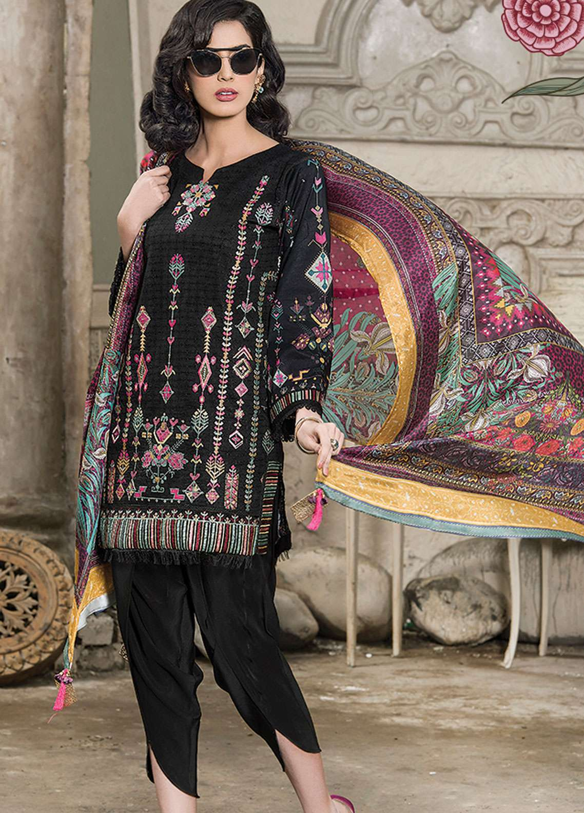 Panache Embroidered Lawn Unstitched 3 Piece Suit PND19L 7 - Spring / Summer Collection