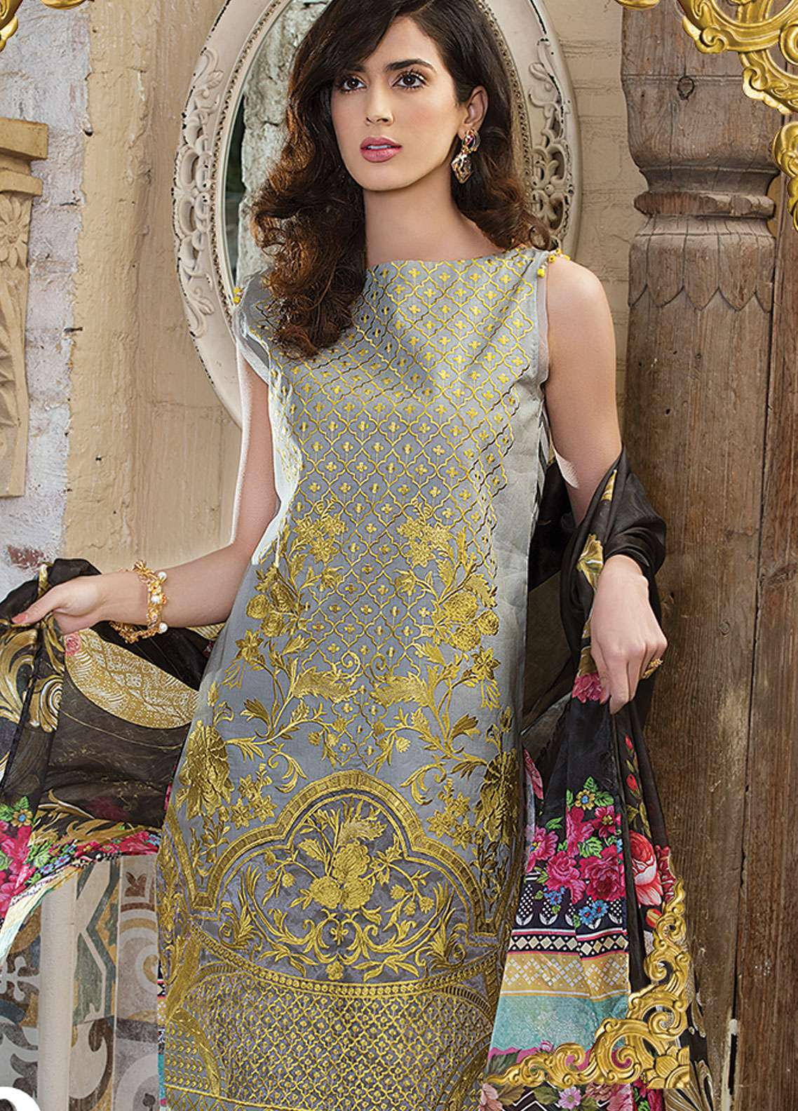 Panache Embroidered Lawn Unstitched 3 Piece Suit PND19L 9 - Spring / Summer Collection
