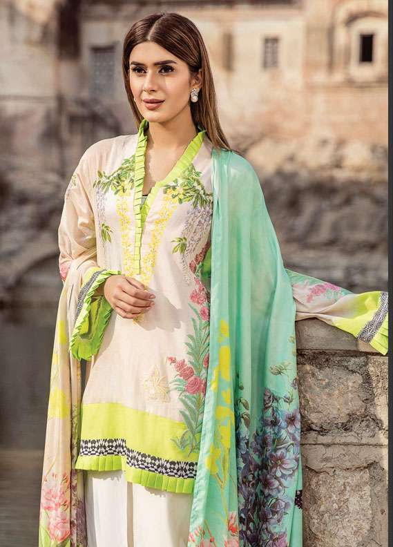 Zehra Saleem Embroidered Lawn Unstitched 3 Piece Suit PN18L 02 - Spring / Summer Collection