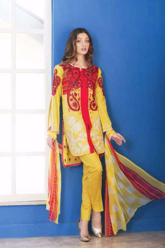 Riaz Arts Embroidered Swiss Voile Unstitched Suit 3 Piece Suit RA17V 16A