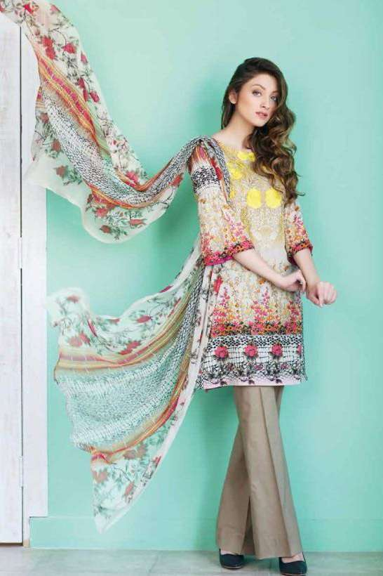 Riaz Arts Embroidered Swiss Voile Unstitched Suit 3 Piece Suit RA17V 18B
