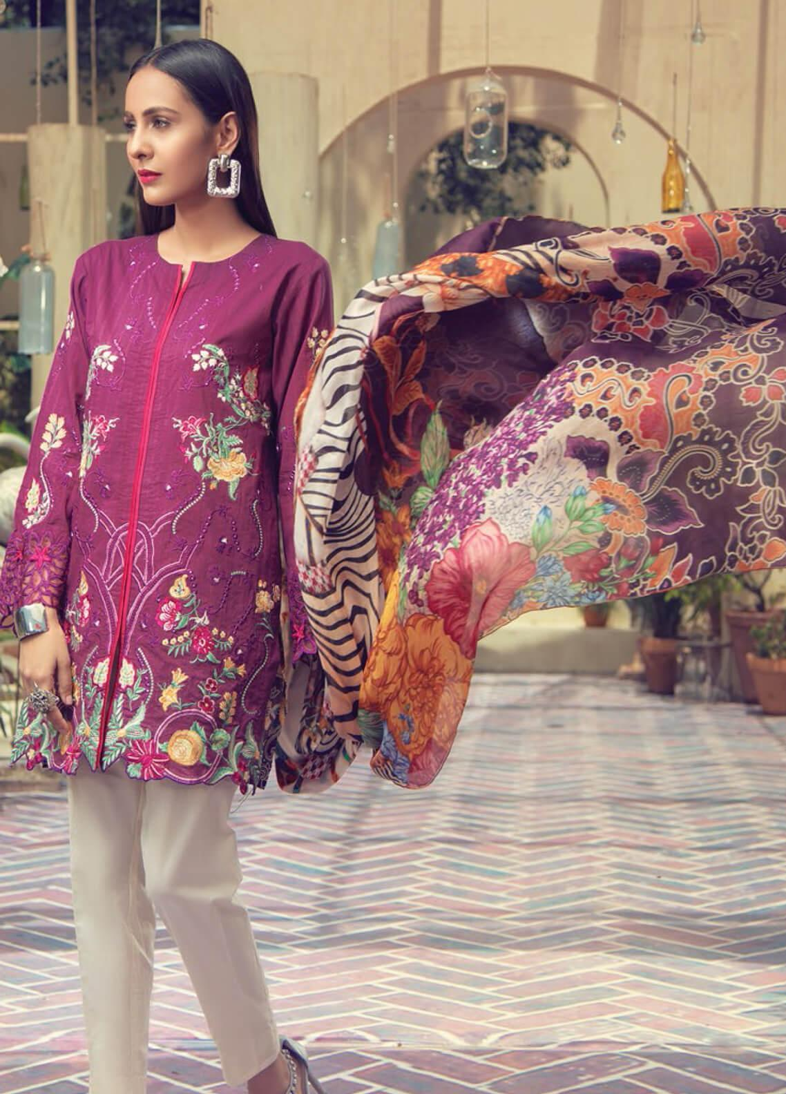 RajBari Embroidered Jacquard Unstitched 3 Piece Suit RB19F 4B - Festive Collection