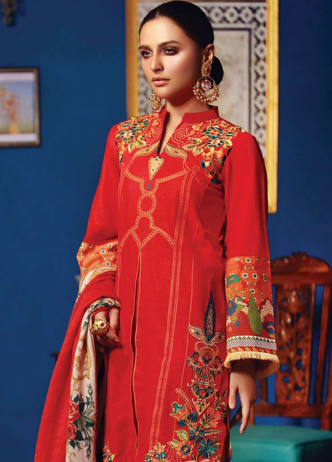 RajBari Embroidered Khaddar Unstitched 3 Piece Suit RB18K 7A - Winter Collection