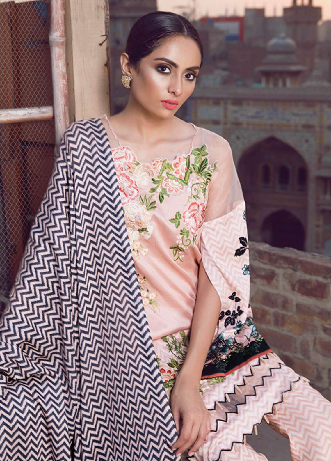 Rang Rasiya Embroidered Viscose Unstitched 3 Piece Suit RR18W 3009B - Winter Collection