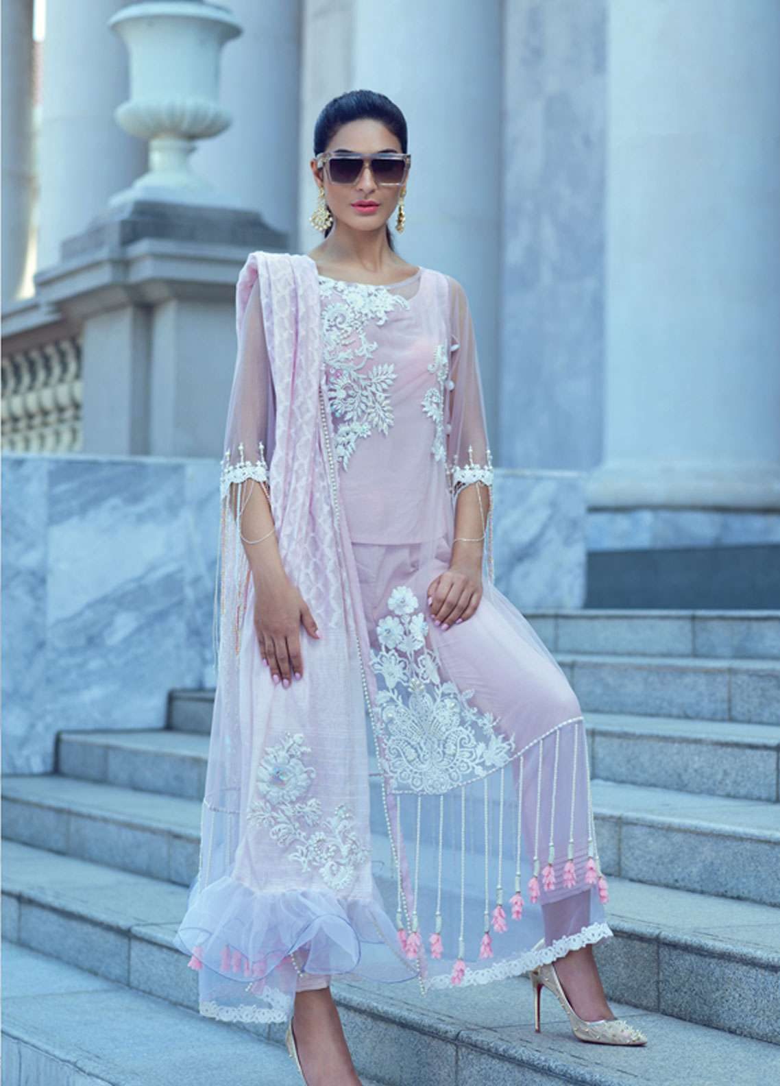 Rang Rasiya Embroidered Chiffon Unstitched 3 Piece Suit RR19E 5014B - Eid Collection