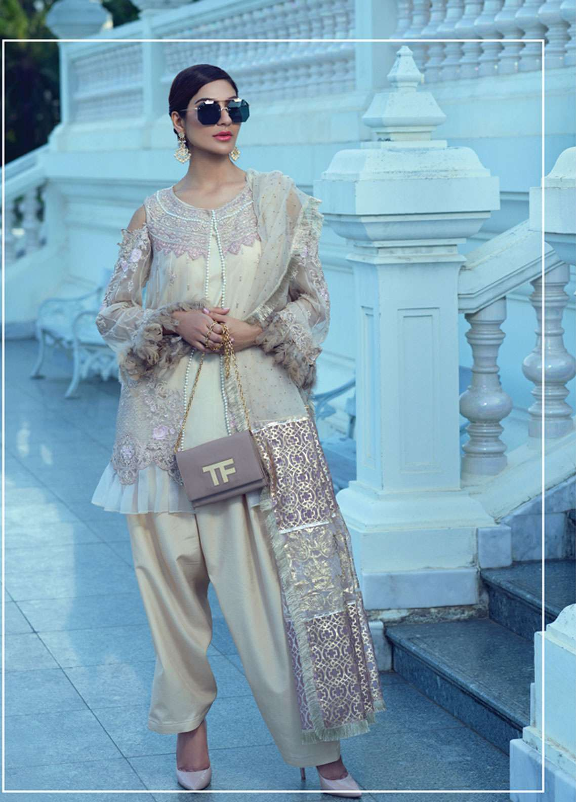 Rang Rasiya Embroidered Chiffon Unstitched 3 Piece Suit RR19E 5020 - Eid Collection