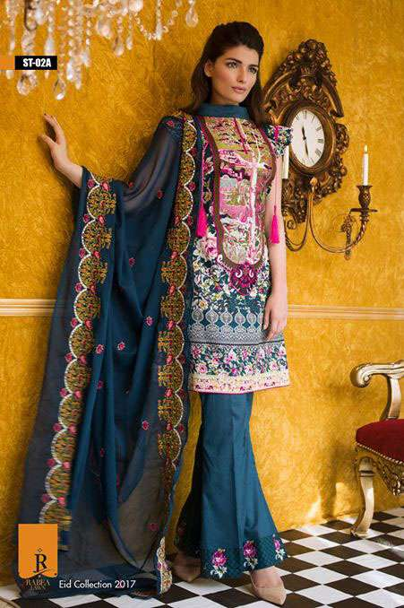 Rabea By Shariq Textiles Embroidered Lawn Unstitched 3 Piece Suit RB17E 2A