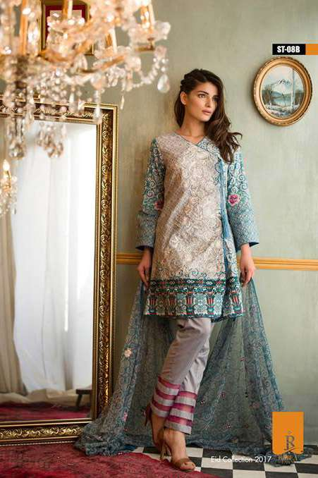 Rabea By Shariq Textiles Embroidered Lawn Unstitched 3 Piece Suit RB17E 8B